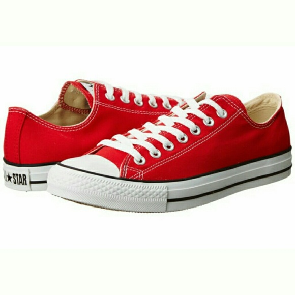 cdec02ee66fce3 Converse Chuck Taylor All Star Red Low Tops 11 NEW